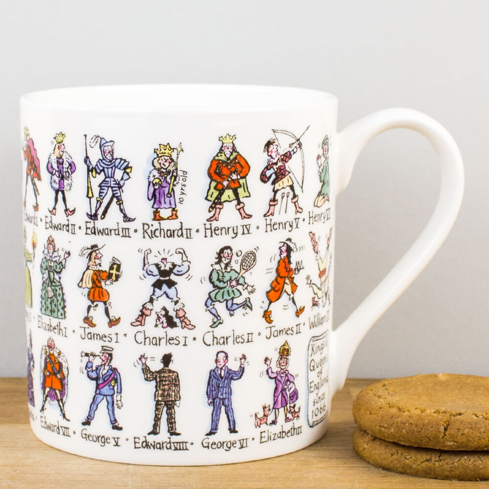 Picturemaps Kings and Queens Bone China Personalised Gift Mug