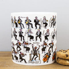 Picturemaps Orchestra Music Themed Bone China Personalised Gift Mug
