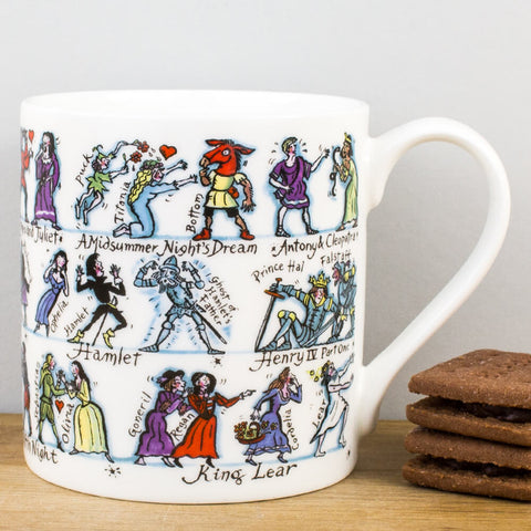 Shakespeare China Mug by Picturemaps