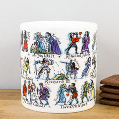 Picturemaps Shakespeare Characters Bone China Personalised Gift Mug