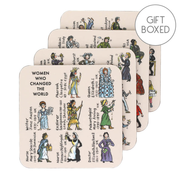Picturemaps Women Who Changed The World Set of 4 Coasters