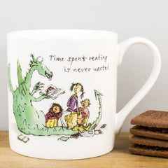 Quentin Blake Time Spend Reading Story-Time Dragon Bone China Gift Mug