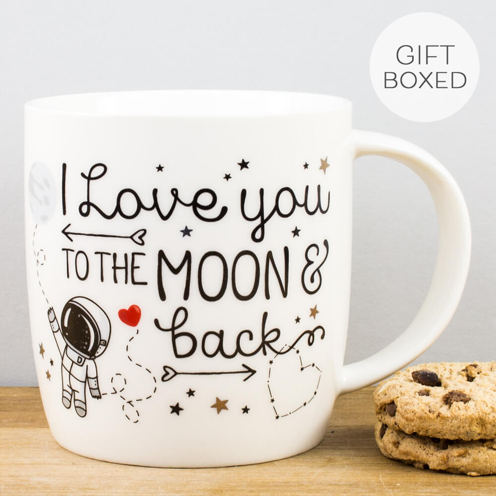 Legami Love You to the Moon and Back China Personalised Gift Box Mug