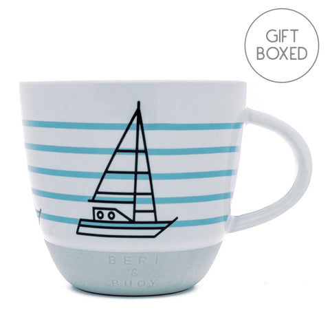 Bert & Buoy Ship Ahoy Nautical Mug