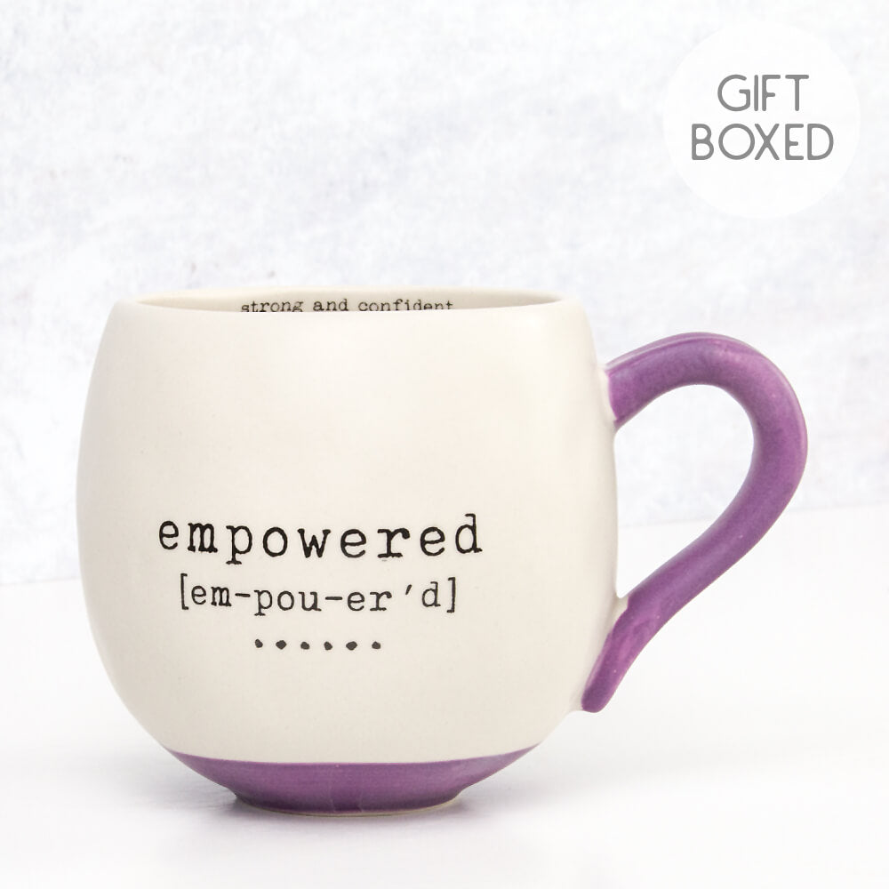 Natural Life Empowered Matte Finish Gift Boxed Mug by Fig & Birch