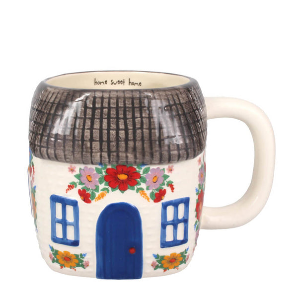 Home Sweet Home Cottage Shaped Ceramic Mug