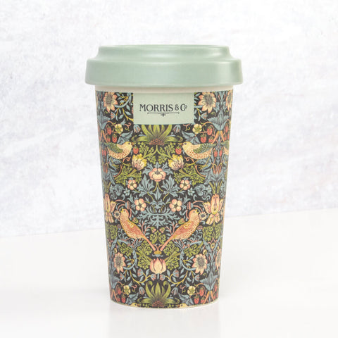 Morris & Co. Strawberry Thief Bamboo Travel Mug
