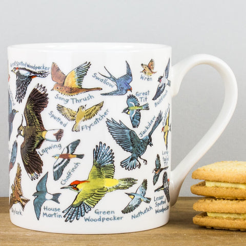 British Birds China Mug by Picturemaps