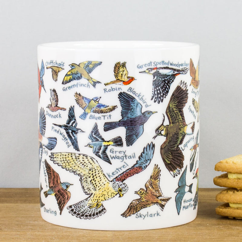 McLaggan Picturemaps British Birds Bone China Personalised Gift Mug