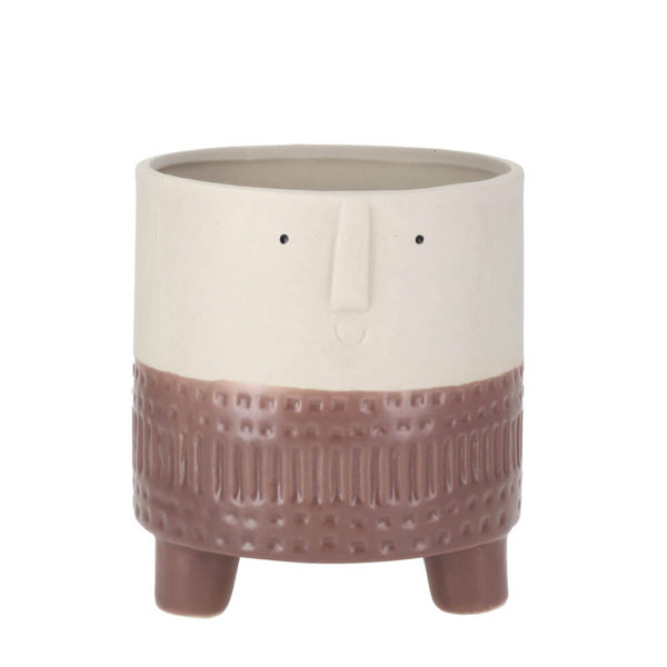 Parlane Arnold Terra Brown Ceramic Small Planter for Plants & Cacti