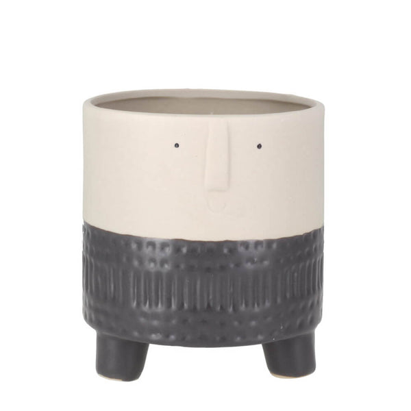 Parlane Arnold Terra Grey Ceramic Small Planter for Plants & Cacti