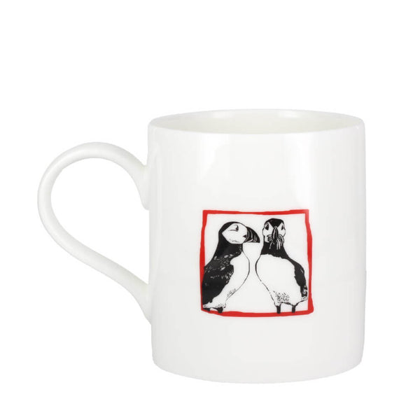 Perkins & Morley Collective Nouns A Circus of Puffins Bone China Mug