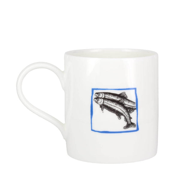 Perkins & Morley Collective Nouns A Leap of Salmon Fine Bone China Mug