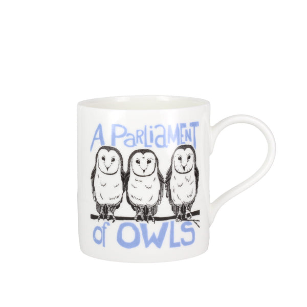 Collective Nouns A Parliament of Owls China Mug