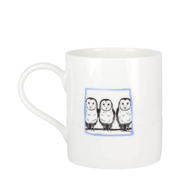 Perkins & Morley Collective Nouns A Parliament of Owls Bone China Mug