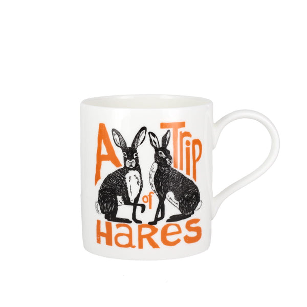 Collective Nouns A Trip of Hares China Mug
