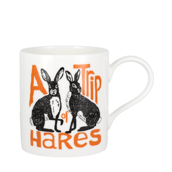 Perkins & Morley Collective Nouns A Trip of Hares Fine Bone China Mug