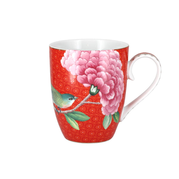 Pip Studio Blushing Birds Red Mug Set