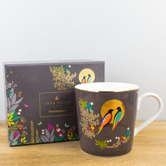 Portmeirion Sara Miller Chelsea Grey & Gold Fine China Gift Boxed Mug