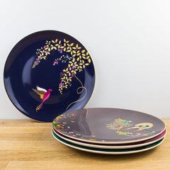Portmeirion Sara Miller Chelsea Collection Gold Boxed Cake Plate Set