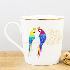 Sara Miller Piccadilly Posing Parrots Gift Boxed Mug by Portmeirion