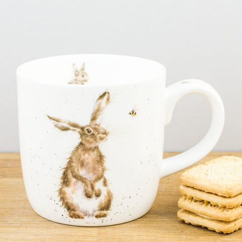 Wrendale Designs The Hare & The Bee China Mug by Royal Worcester