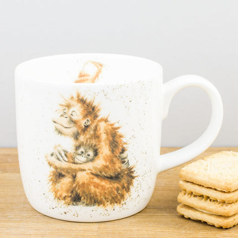 Wrendale Designs Orangutangle China Mug by Royal Worcester