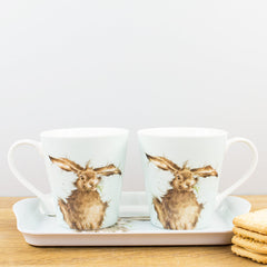 Pimpernel Wrendale Designs Hare Porcelain Mug & Melamine Tray Set