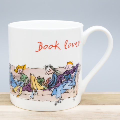 Book Lover China Mug by Quentin Blake