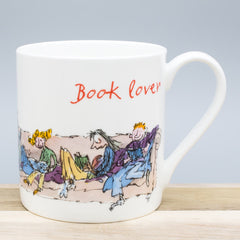 Quentin Blake Book Lover Bone China Gift Mug Reading Themed Cup
