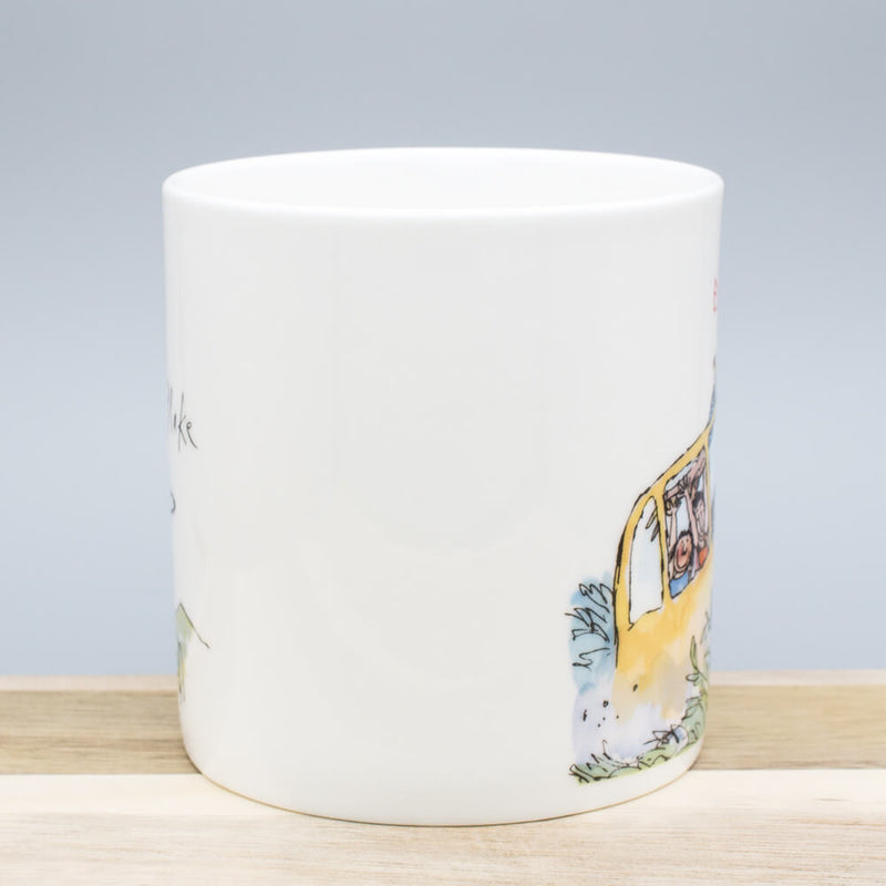 Quentin Blake Enjoy The Ride! Bone China Gift Mug Outdoors Themed Cup