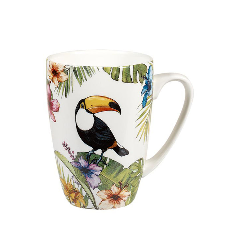 Churchill Reignforest Tropical Toucan China Latte Mug Coffee Cup