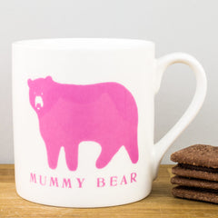 McLaggan Mummy Bear Bone China Personalised Gift Mug by Raw Xclusive