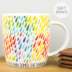 Legami After Rain Comes The Rainbow Personalised Gift Box Mug