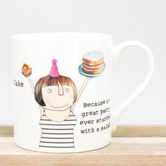 Rosie Made A Thing Cake Bone China Mug 380ml Coffee Cup Gift