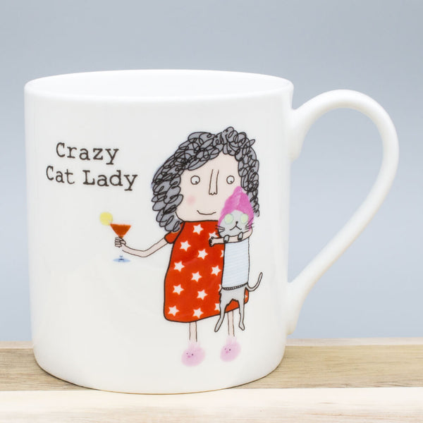 Rosie Made A Thing Crazy Cat Lady China Mug