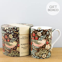 Royal Worcester William Morris Strawberry Thief Chocolate Gift Box Mug