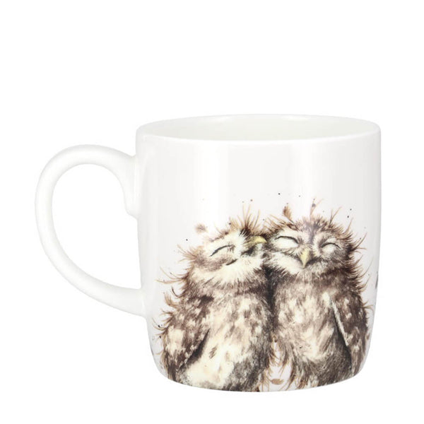 Royal Worcester Wrendale Designs The Twits Owls Bone China Gift Mug