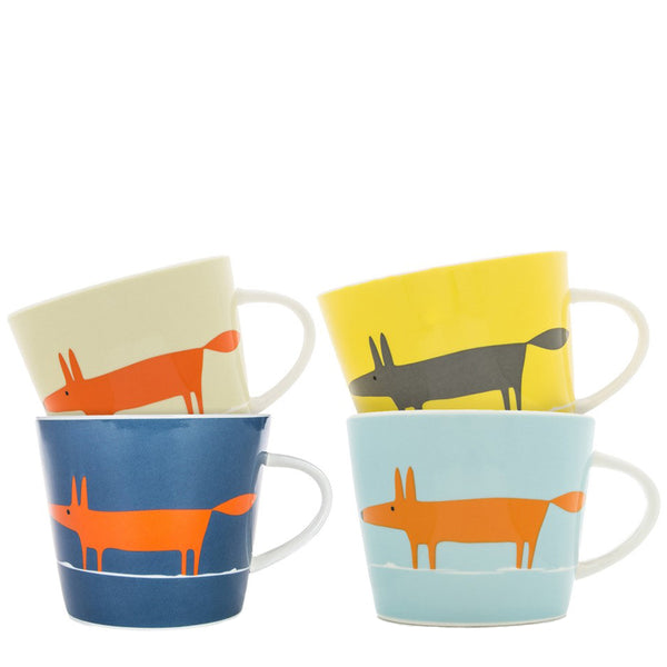 Scion Mr Fox Set of 4 China Mugs