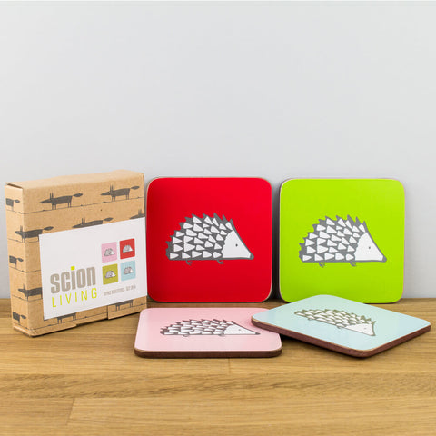 Spike Hedgehog Set of 4 Coasters by Scion
