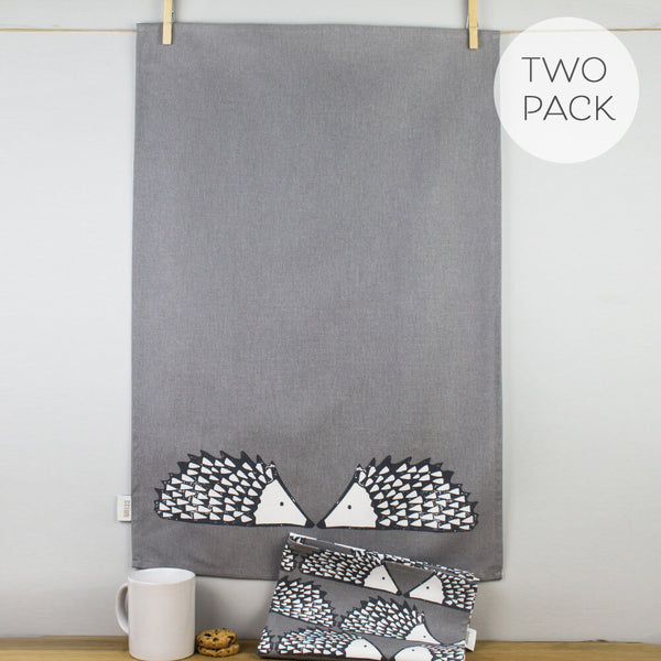Scion Spike Grey Tea Towel Set