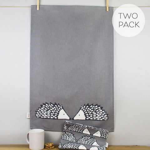 Spike Grey Tea Towel Set by Scion