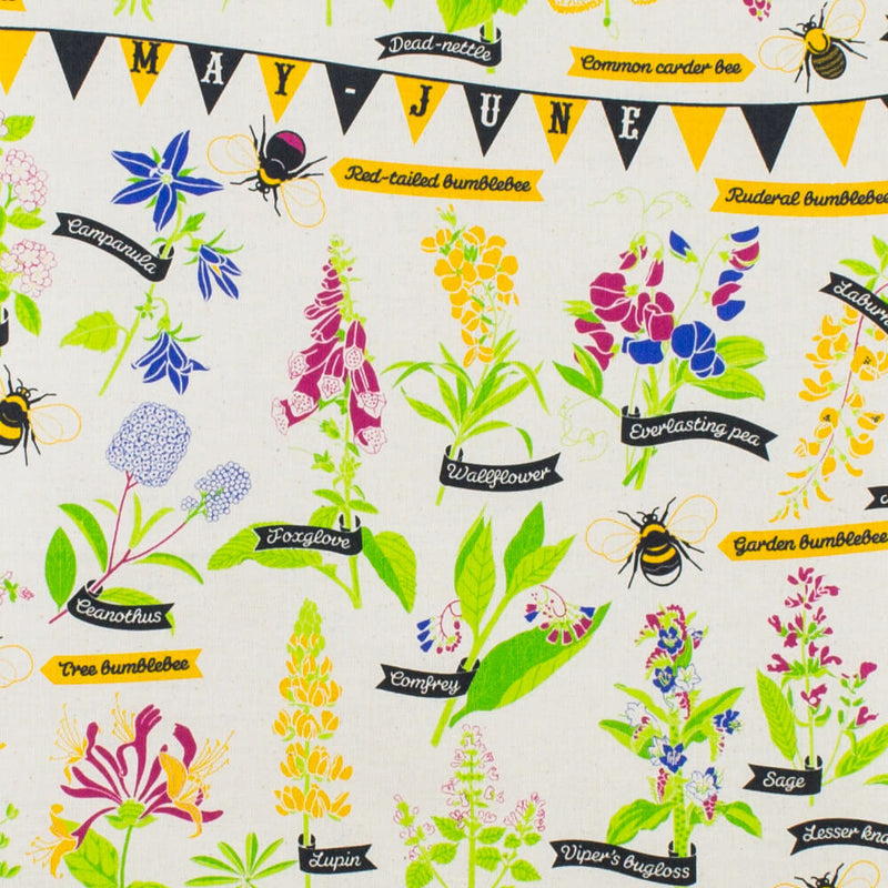 Stuart Gardiner Design Bee Friendly Unbleached 100% Cotton Tea Towel