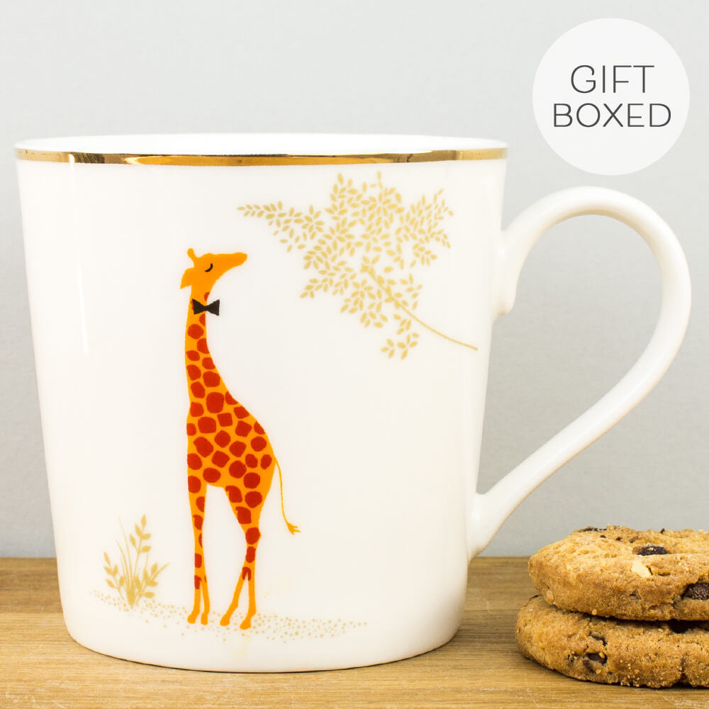 Sara Miller Piccadilly Genteel Giraffe Gift Boxed Mug by Portmeirion