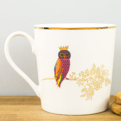 Sara Miller Piccadilly Opulent Owl Gift Boxed Mug by Portmeirion