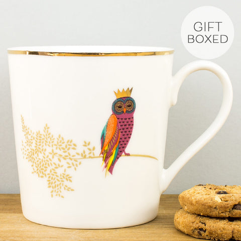 Sara Miller Piccadilly Opulent Owl China Mug by Portmeirion