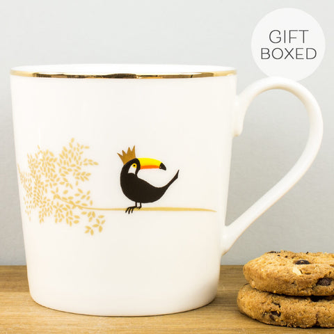 Sara Miller Piccadilly Terrific Toucan China Mug by Portmeirion