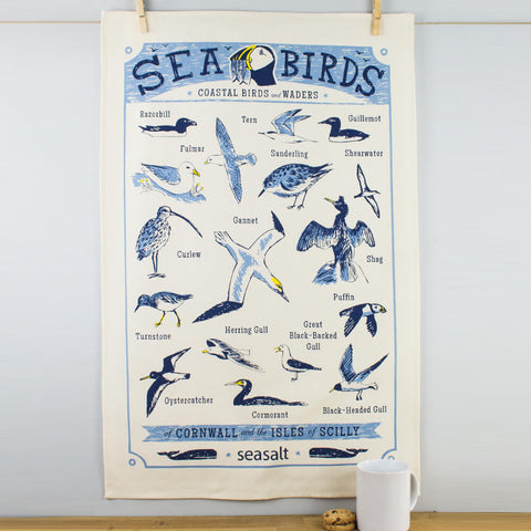 Seasalt Seabirds Cotton Tea Towel by Ulster Weavers