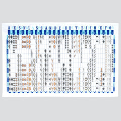 Guide to Seasonal Seafood Cotton Tea Towel by Stuart Gardiner UK Made