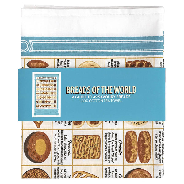 Breads of the World Cotton Tea Towel